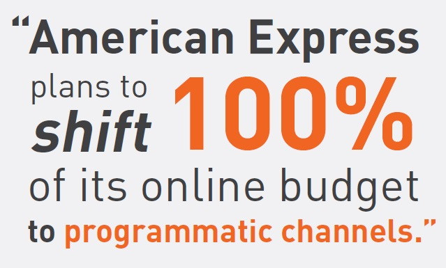 American Express plans to shift 100% of its online media budget to programmatic channel