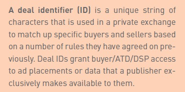 Deal identifier for guaranted direct deal in private exchange